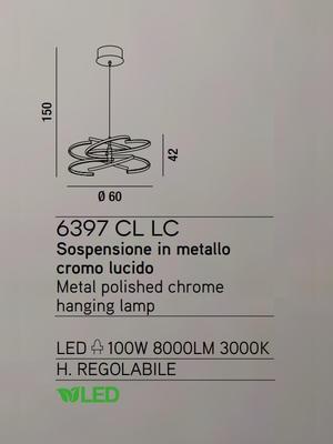 PERENZ - Závěsný lustr, 6397 - chromová  - 2