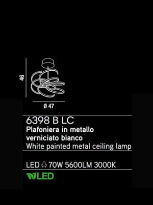 PERENZ - Závěsný lustr 6398, Bílá - 2