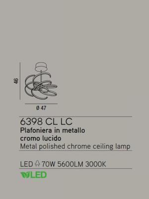 PERENZ - Závěsný lustr 6398, Chromová - 2