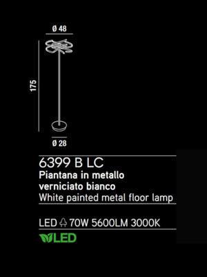 PERENZ - Stojací lampa 6399, Bílá - 2