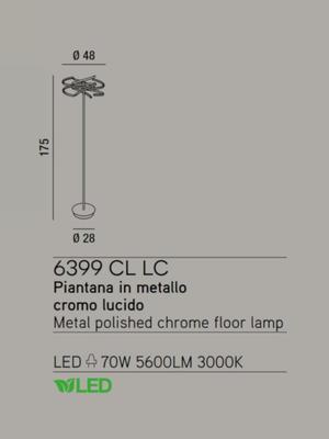 PERENZ - Stojací lampa 6399, Chromová - 2