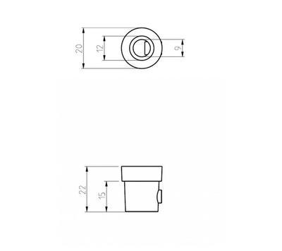 Plastová krytka pro ALU NIPL XTSA510-2 černá - 2