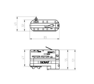 Adaptér GLOBAL Trac N/A  XTSA68-1 Šedá - 2