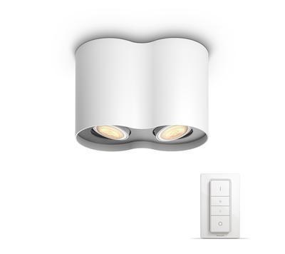 Pillar Hue plate/spiral white 2x5.5W 5633231P7 - 2
