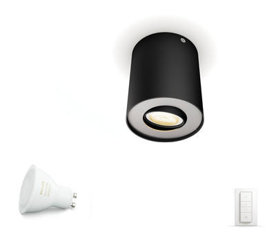 Pillar Hue single spot black 1x5.5W 5633030P7 - 2