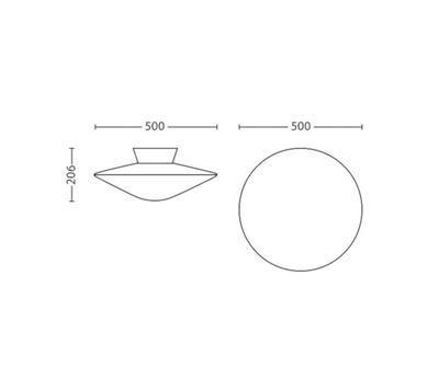 Phoenix-ceiling lamp-Opal white 3115131PH - 2