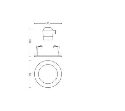 MILLISKIN recessed white 1x5.5W 230V - 2