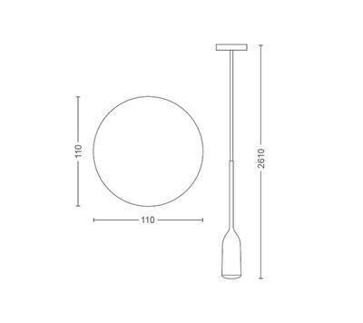 Devote Hue pendant white 1x9.5W 230V ext. - 2