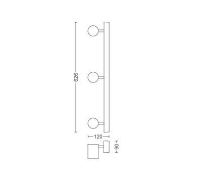 Adore Hue bar/tube white 3x5.5W 230V - 2