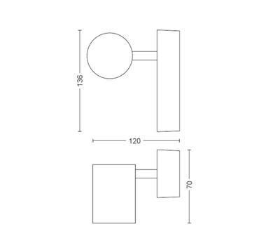 Adore Hue single spot white 1x5.5W 230V - 2