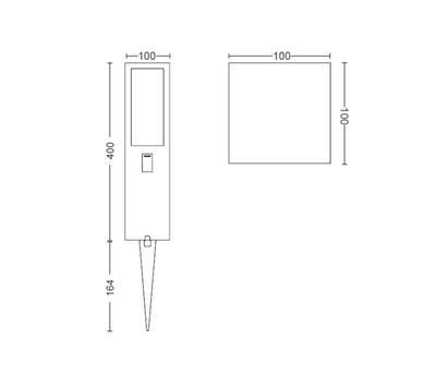Impress Hue WACA EU pedestal black 1x8W SELV - 2