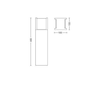Fuzo Hue White EU pedestal black 1x15W - 2