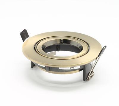 Rámeček MR16 kulatý staromosaz 11105C/ABS - 2