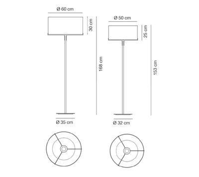 Aitana Floor Lamp O 50cm Matt nickel + White shade - 2