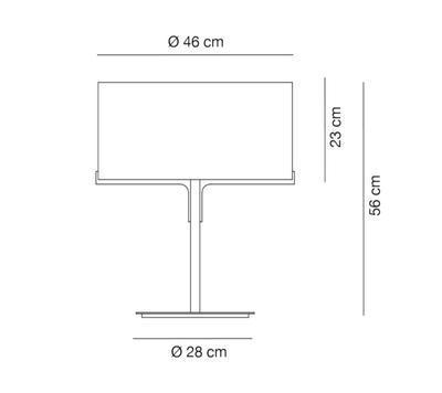 Aitana Table Lamp Black + white shade - 2