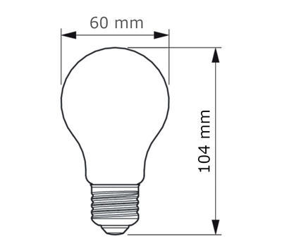 Classic LEDBulb ND 7-60W A60 E27 827 CL - 2