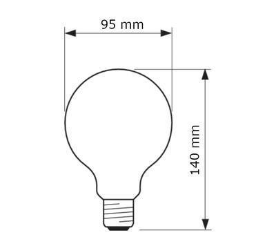 Classic LEDbulb ND 7-60W G93 E27 827 CL - 2