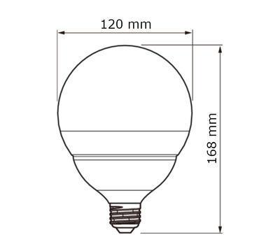 CorePro LEDglobe 18-120W E27 827 G120 ND - 2