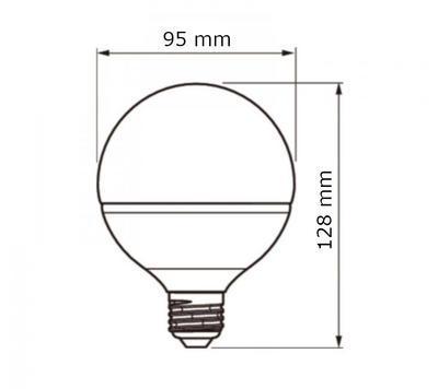 CorePro LEDglobe 16.5-100W E27 827 G93  ND - 2