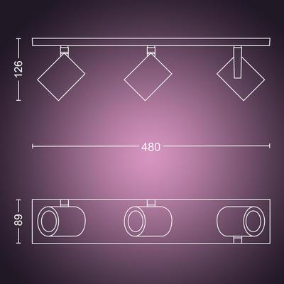 Argenta plate/spiral aluminium 3x5.7W - 2