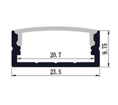 ALU profil přisazený 23x10mm 2m krytka mat - 2