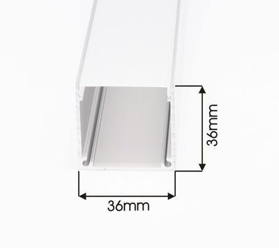 ALU profil  přisazený 36x36 délka 1m krytka mat - 2