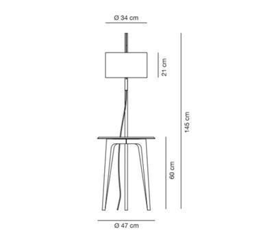 CARLA - stojací lampa - 2