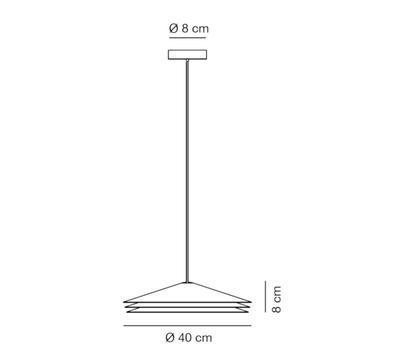 COLETTE - závěsná lampa, průměr 40 cm cihlově červená - 2