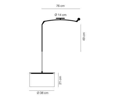 FINGER - závěsná lampa, průměr 38 cm bílé stínidlo - 2