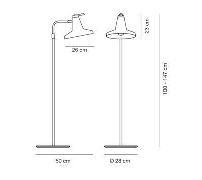 GARÇON - stojací lampa - 2