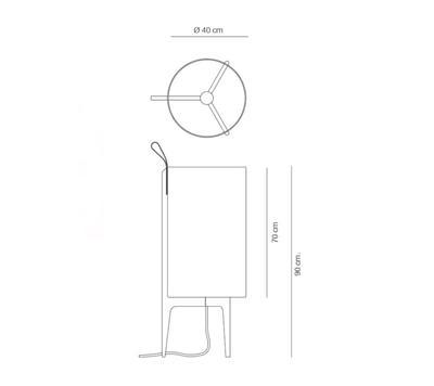 GRETA - stojací lampa - 2