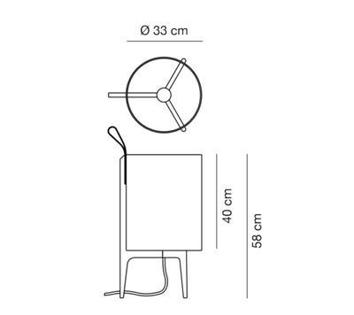 GRETA - stolní lampa, Ø 33 cm / černý dub - 2