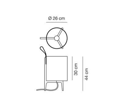 GRETA - stolní lampa, Ø 26 cm / černý dub - 2