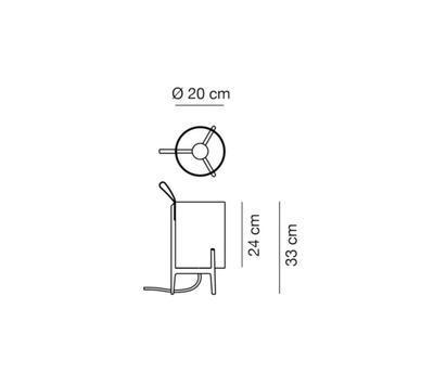 GRETA - stolní lampa, Ø 20 cm / černý dub - 2