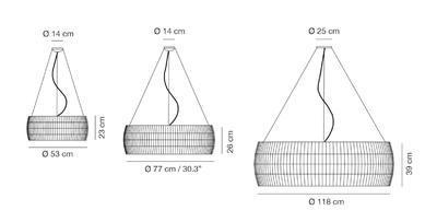 ISAMU - závěsná lampa - 2