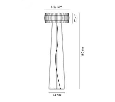 ISAMU - stojací lampa - 2