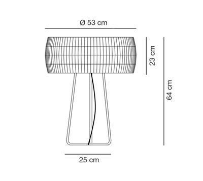 ISAMU - stolní lampa - 2