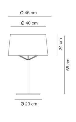 JERRY - stolní lampa, Ø 45 cm, konstrukce bílá / stínidlo béžové - 2