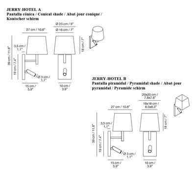 JERRY HOTEL - nástěnná lampa - 2
