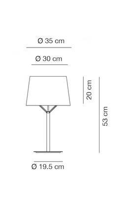 JERRY - stolní lampa, Ø 35 cm, konstrukce bílá / stínidlo béžové - 2