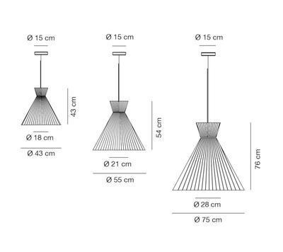MANDARINA - závěsná lampa - 2