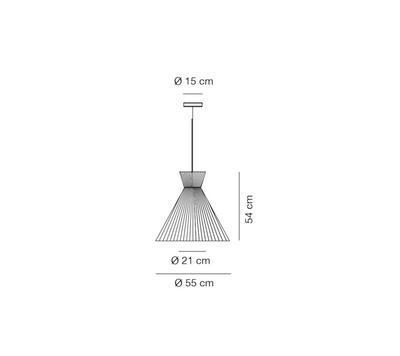 MANDARINA - závěsná lampa, průměr 55 cm bílá - 2