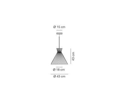 MANDARINA - závěsná lampa, průměr 43 cm olivově zelená - 2