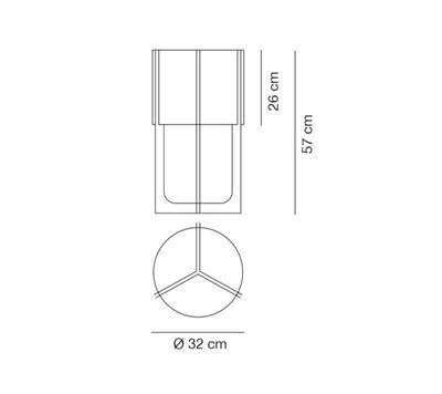 NIRVANA - stolní lampa, Ø 32 cm matný nikl, stínidlo kovově šedé - 2