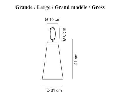 SASHA BATTERY - stolní nebo závěsná lampa, grande, olivově zelená - 2