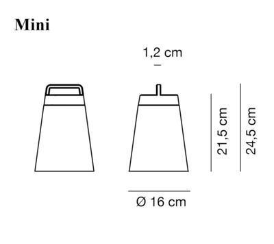 SASHA BATTERY - stolní nebo závěsná lampa, mini, bordeaux - 2