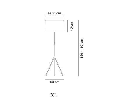 SIGNORA - stojací lampa, XL (Ø 65 cm), matný nikl / bílá - 2