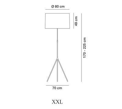 SIGNORA - stojací lampa, XXL (Ø 80 cm), matný nikl / béžová - 2