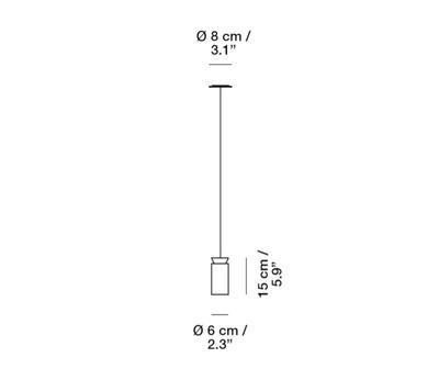 TRIANA - závěsná lampa - 2