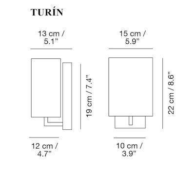 TURÍN - nástěnná lampa - 2